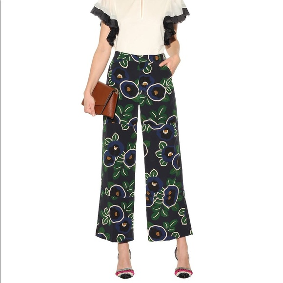 f97ade05f8 Tory Burch Pants | Nwt Jacinta Floral Silk Trousers | Poshmark